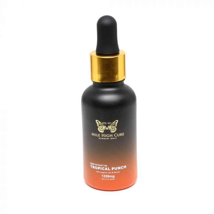 Mile High Cure Full Spectrum Dropper Bottle Tropical Punch 1250mg 30ml