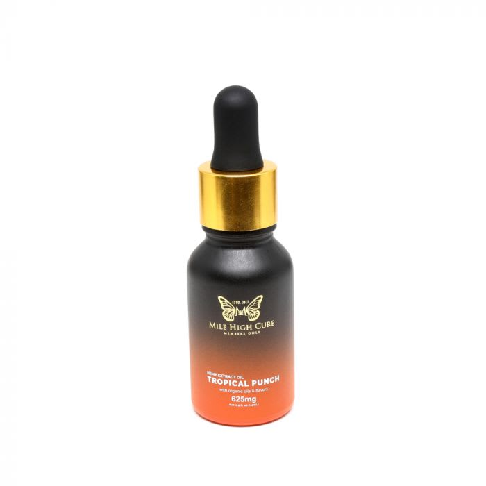 Mile High Cure Full Spectrum Dropper Bottle Tropical Punch 625mg 15ml